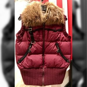 Jackets & Blazers - * Down Feather Puffer Vest with Faux Fur Collar
